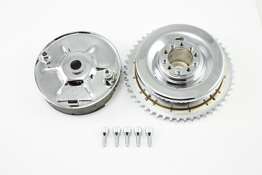 Rear Mechanical Brake Drum Kit Chrome