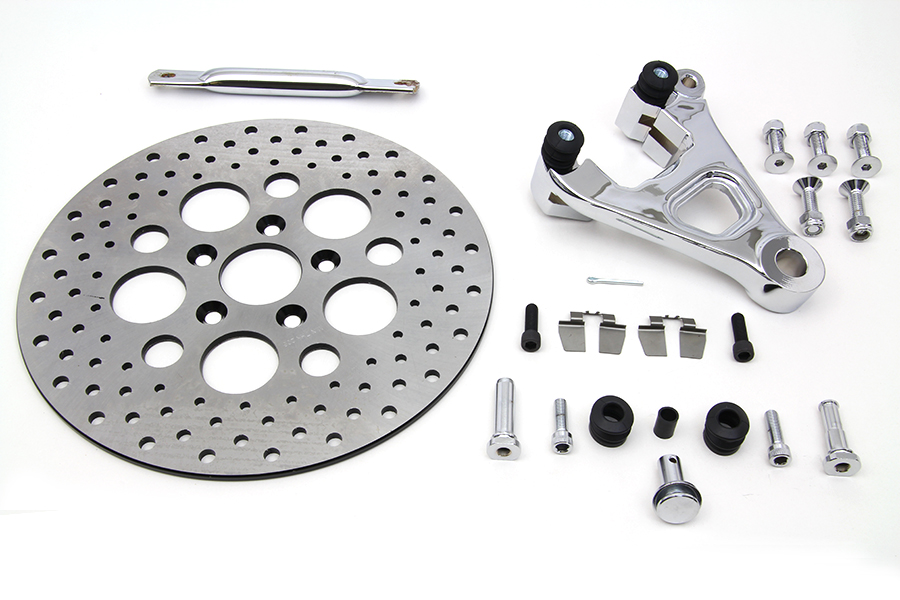 "*UPDATE Chrome Rear Caliper and 11-1/2"" Disc Kit"
