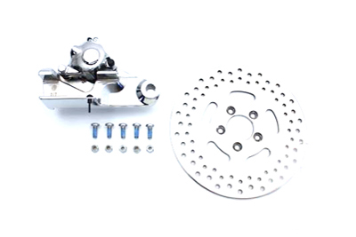 "Chrome Rear 4 Piston Caliper and 11-1/2"" Disc Kit"