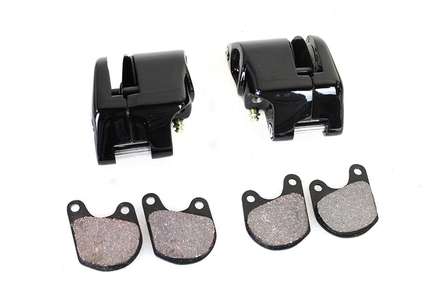 Black Front 1 Piston Caliper Set