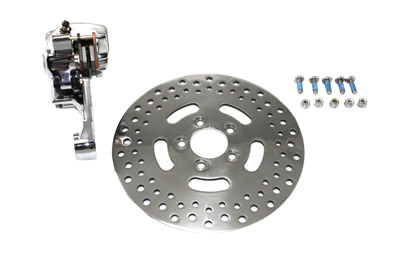 "Chrome Rear Single Piston Caliper and 11-1/2"" Disc Kit"