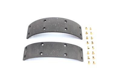 Rear Brake Shoe Lining Set with Rivets