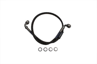 "Stainless Steel 24-3/8"" Rear Brake Hose"