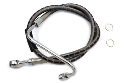 "Stainless Steel 24"" Front Brake Hose"