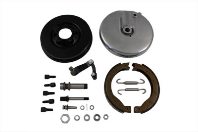 Front Brake Backing Plate Kit Left Side Black