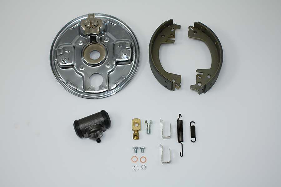 Rear Hydraulic Brake Backing Plate Kit Chrome