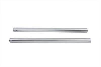 """Hard Chrome 39mm Fork Tube Set 23-3/8"""" Total Length"""