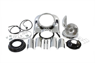 "7"" Headlamp Cowl Kit Chrome"