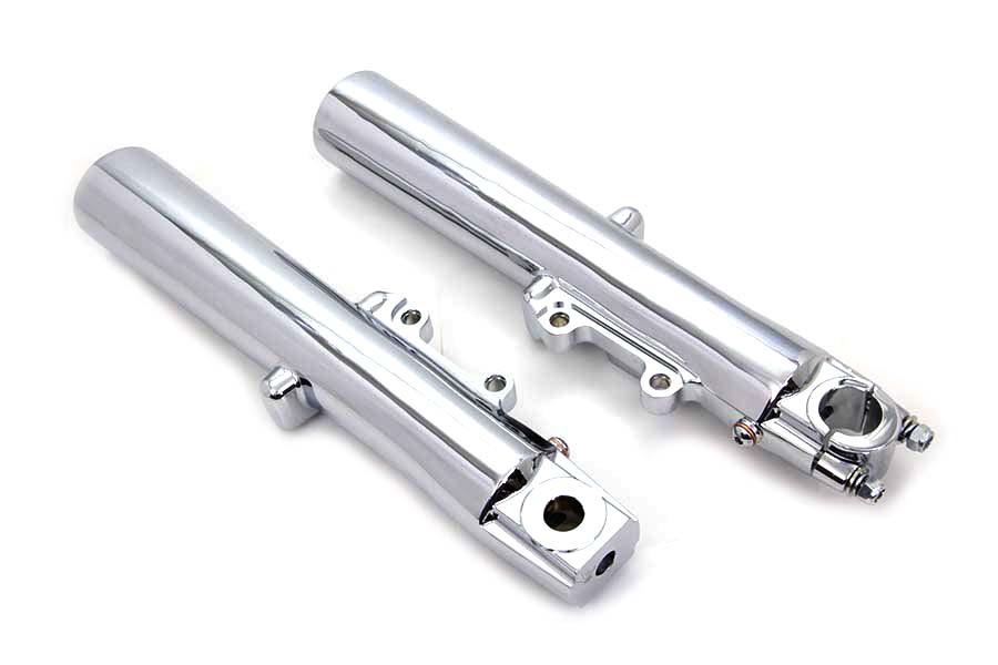 Chrome 41mm Lower Fork Slider Set