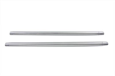 "Chrome 35mm Fork Tube Set 23-1/2"" Total Length"