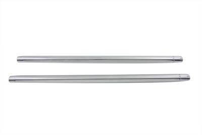 """Chrome 35mm Fork Tube Set 25-1/4"""" Total Length"""