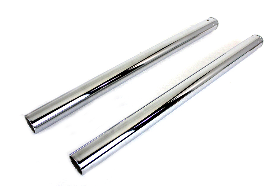 "Chrome Fork Tube Set 2"" Over Stock"