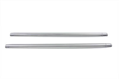"Chrome Fork Tube Set 10"" Over Stock"
