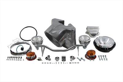 "7"" Headlamp Cowl Kit Polished"