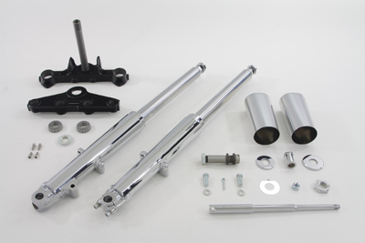 41mm Chrome Fork Assembly with Chrome Sliders