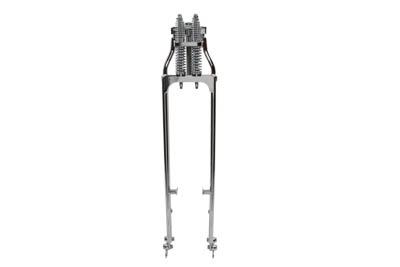 """*UPDATE 46"""" Chrome Spring Fork Kit Tapered Leg Style"""