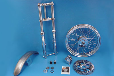 "*UPDATE 39mm Chrome Fork Assembly with 19"" Wheel"