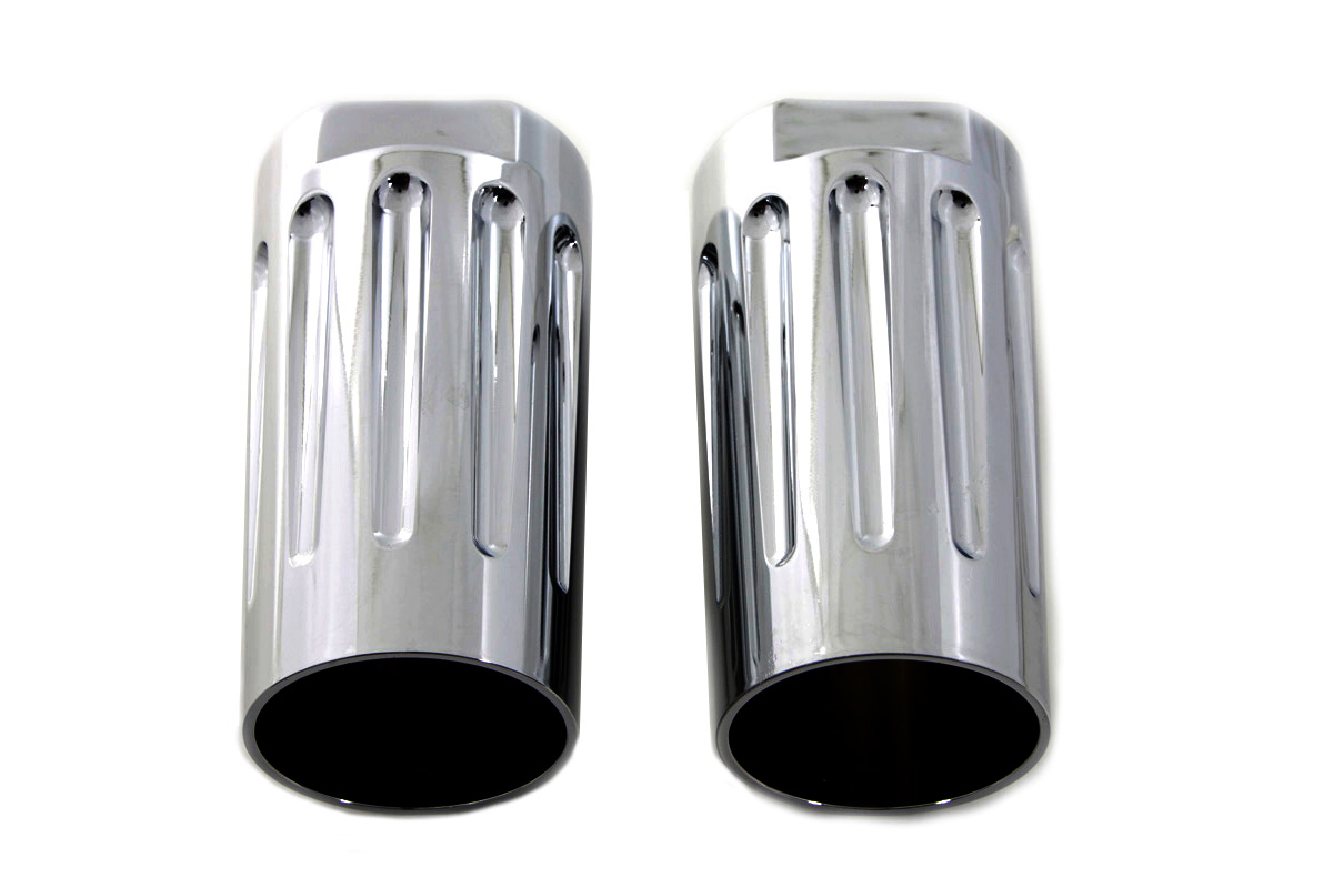 Chrome Milled Fork Slider Cover Set