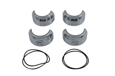 49mm Fork Boot Cover Set Chrome