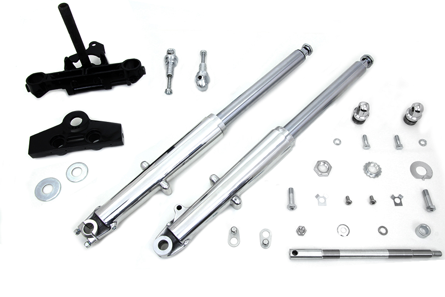 41mm Adjustable Fork Assembly with Polished Sliders