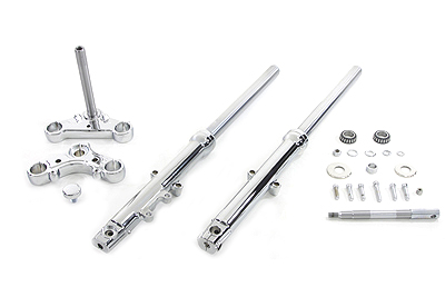 39mm Fork Assembly with Chrome Sliders Single Disc