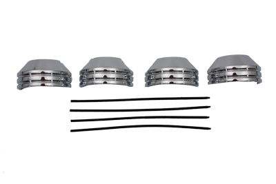 35mm Chrome Fork Boot Cover Set