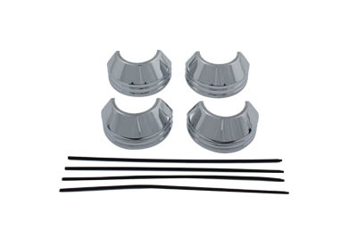 41mm Chrome Fork Boot Cover Set