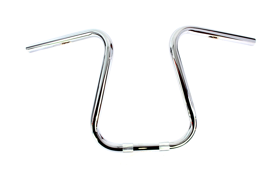"""Chrome 1"""" Loopy Handlebar with Indents"""