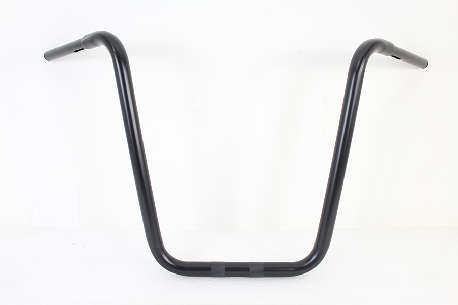 "19-1/2"" Rhino Ape Hanger Handlebar with Indents Black"
