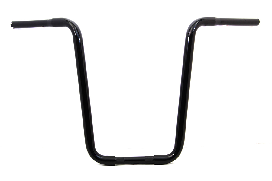 Narrow Body Ape Hanger Handlebar with Indents Black