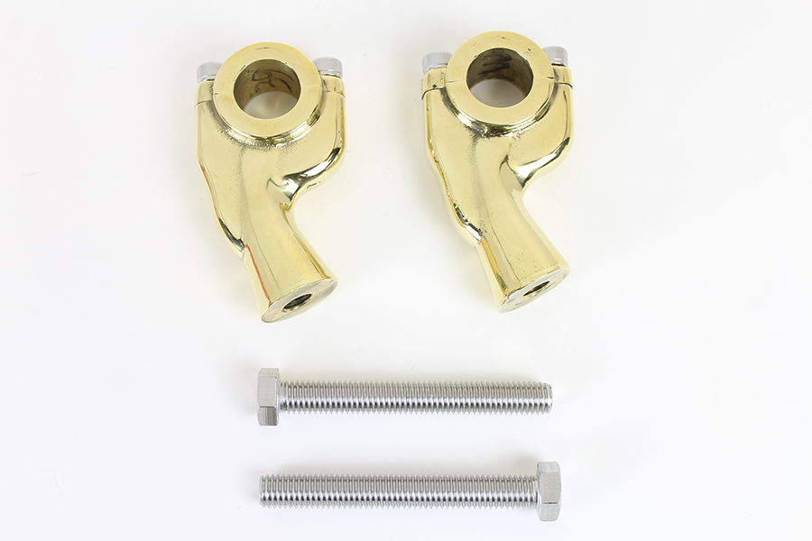 "1"" Retro Pullback Riser Set Brass"