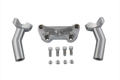 """4-1/2"""" Eagle Spirit Pullback Riser Kit Chrome"""