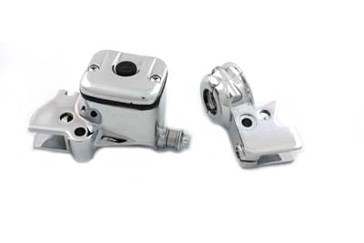 Chrome OE Style Smooth Handlebar Control Cover Kit