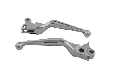 Chrome Slotted Hand Lever Set