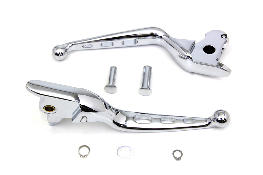 Chrome Drilled Hand Lever Set