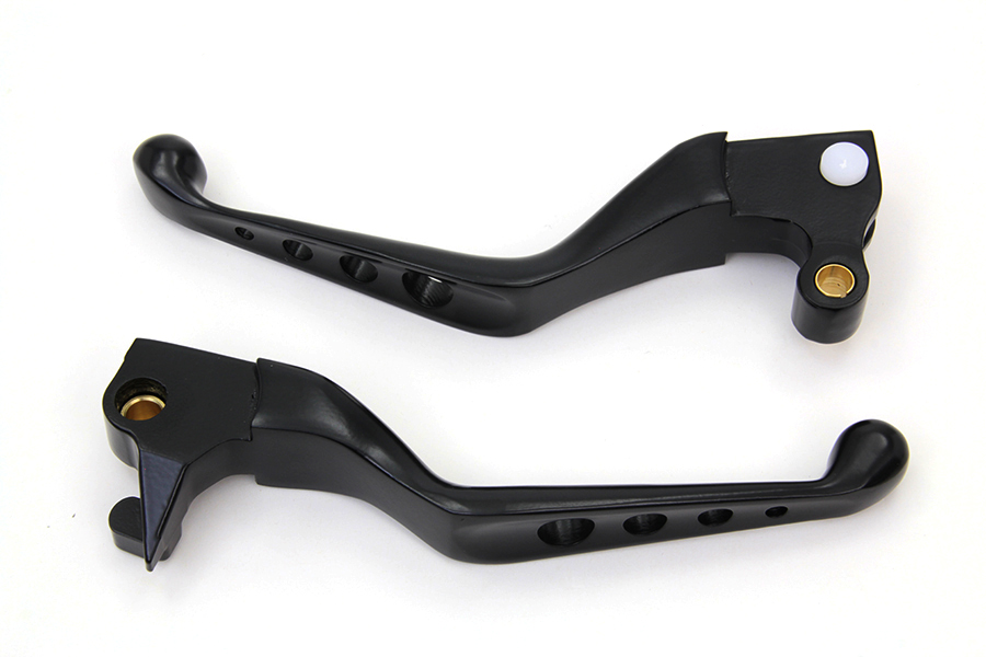 Black Drilled Hand Lever Set