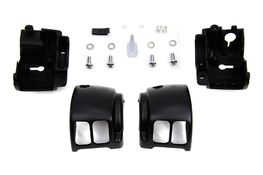Handlebar Control Switch Housing Kit Black