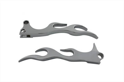 Chrome Flame Style Hand Lever Set