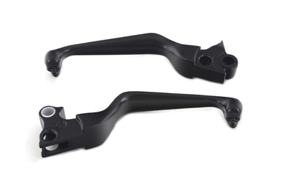 Black Contour Hand Lever Set with Skull Ends