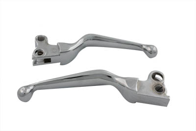 Chrome Contour Hand Lever Set