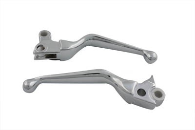 Chrome Smooth Contour Hand Lever Set