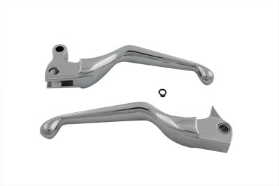Chrome Smooth Hand Lever Set