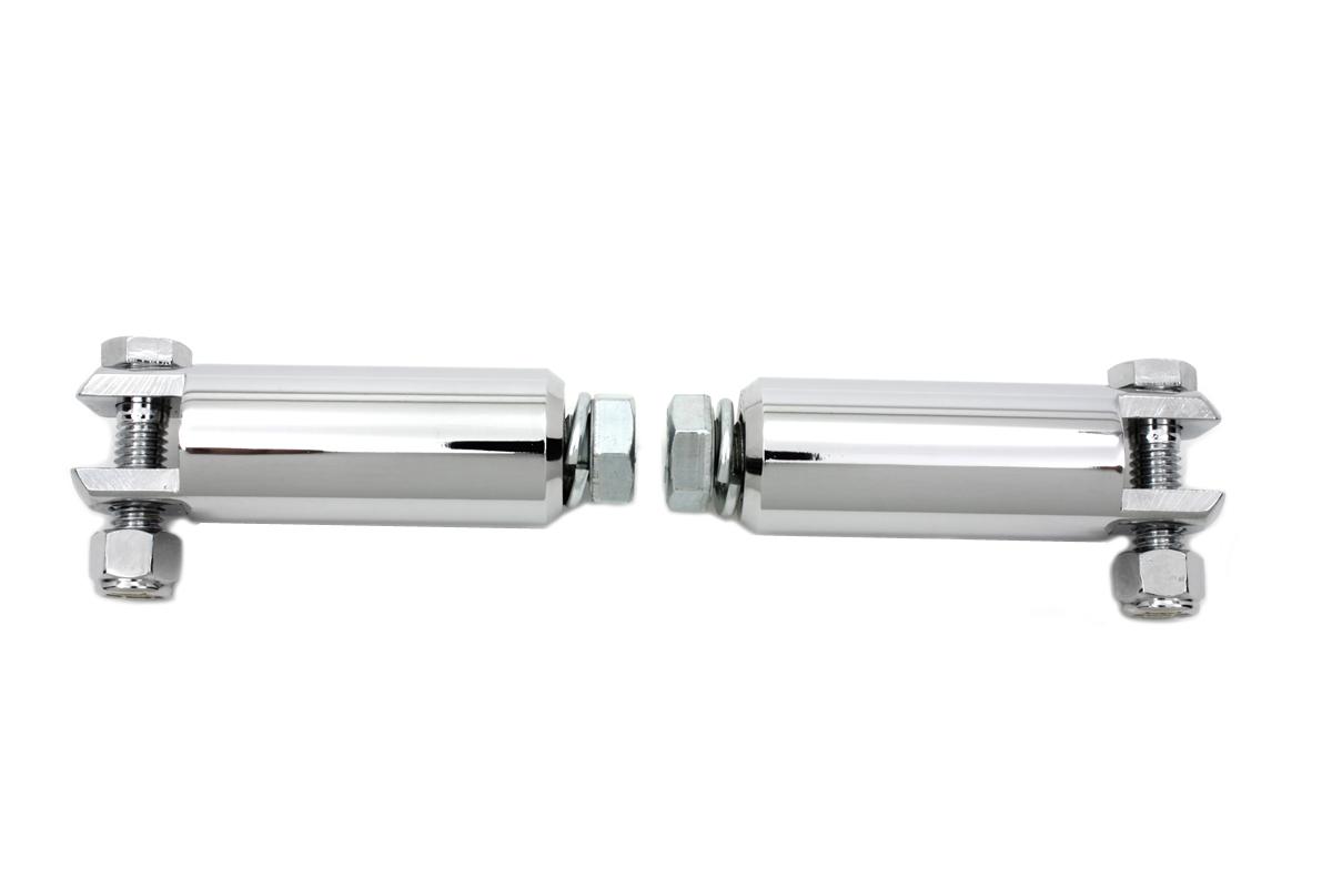 "VTwin Chrome Motorcycle 3.5"" Female Footpeg Mount Bars for Harley Davidson"