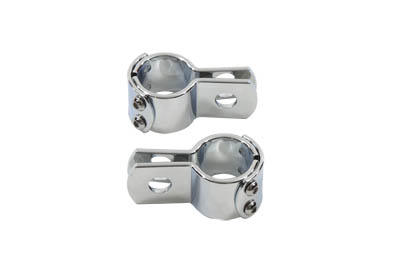 "Vtwin Chrome 1-1/4"" Footpeg 3 Piece Mounting Clamp Set Harley Davidson"