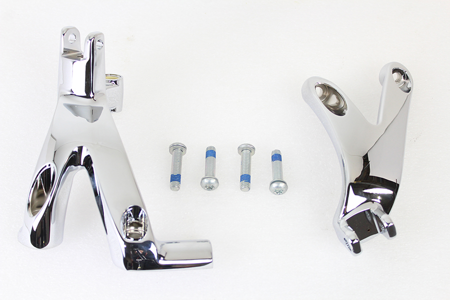 Standard Forward Control Mount Kit Chrome