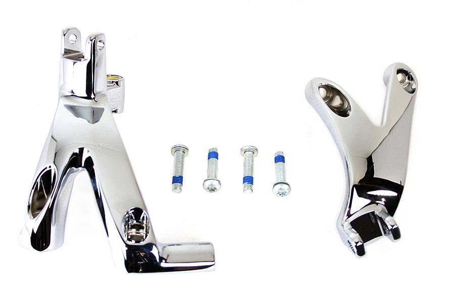 Standard Forward Control Mount Kit Chrome