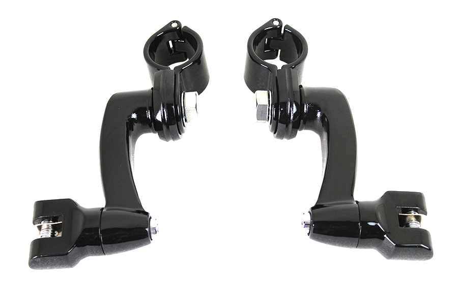 Highway Bar Footpeg Mount Set Black