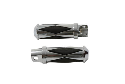 Chrome Diamond Style Footpeg Set