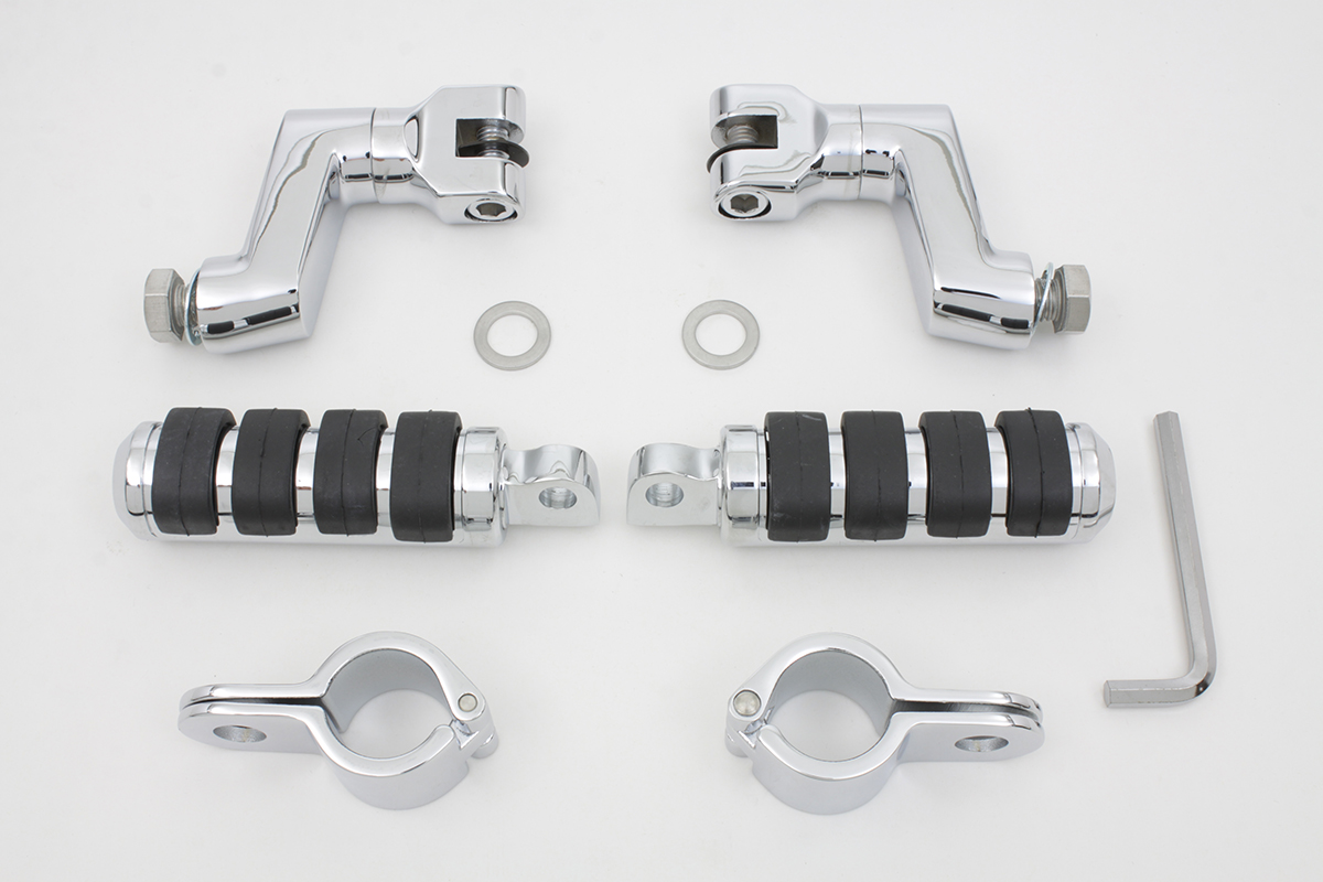 Chrome Offset Footpeg Kit