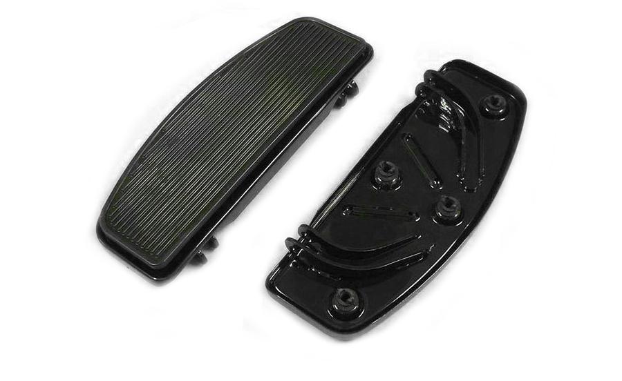 Driver Footboard Set Black 'D' Shape